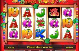 Скрин бесплатно онлайн Happy Fruits игровой автомат без депозита