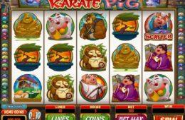 Karate Pig бесплатный игровой автомат онлайн