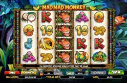 Бесплатный игровой казино автомат Mad Mad Monkey онлайн