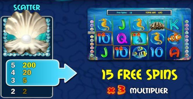 Символ разброса игрового автомата онлайн Pearl Lagoon