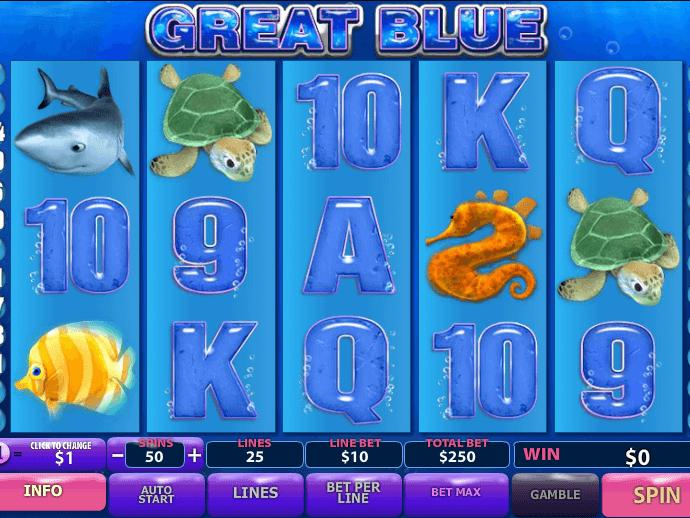 Игровой автомат Great Blue Игровой автомат Great Blue — это аппарат, который познакомит гэмблеров с обитателями глубоких вод.Поле оформлено в соответствующем стиле.Великие Луки