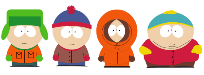 Казино игровой автомат South Park - Кайл, Стэн, Кенни, Картман
