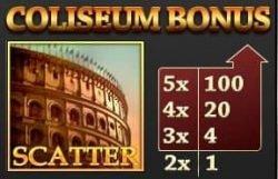 Coliseum bonus symbol