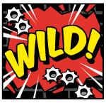 Wild symbol of casino slot game Jack Hammer