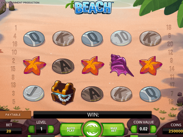 Img of slot game Beach online