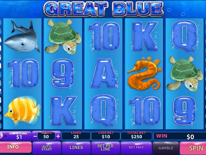 Pic of slot great blue free online