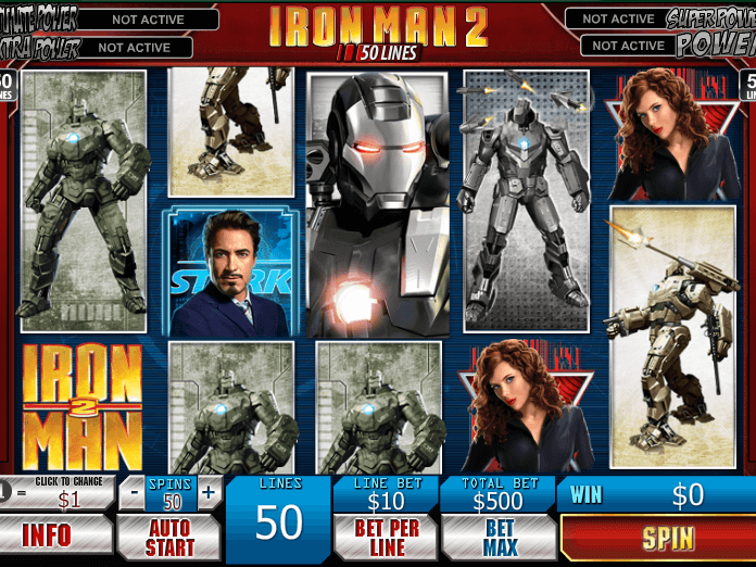 pic of slot Iron Man 2 - 50 Lines free online