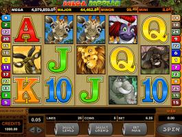 pic of Mega Moolah free online slot