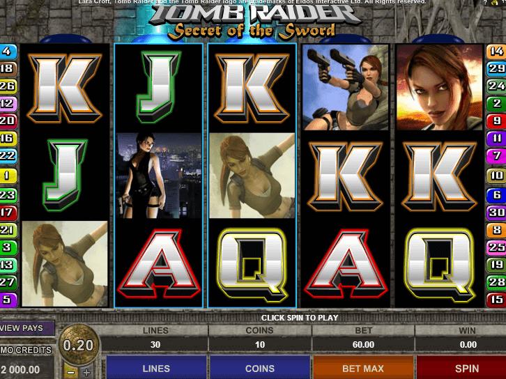 tomb raider secret of the sword casino