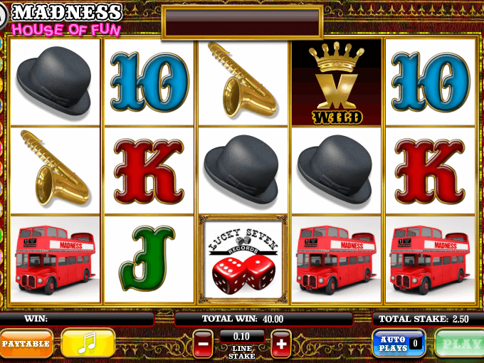 picture of slot madness house of fun free online