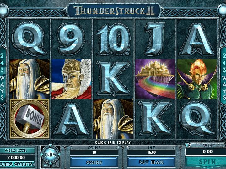 pic of slot Thunderstruck 2 free online