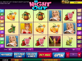 picture of slot A night out free online