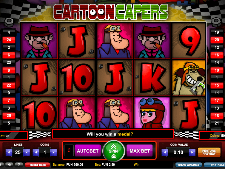Cartoon Capers\u2122 Slot Machine - Play Free Online Game ...