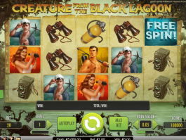 Image of the Creature from the Black Lagoon slotmachines