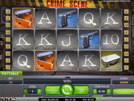 Image from the free online slot Crime Scene