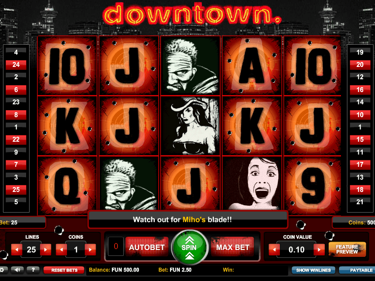 pic of free online slot Downtown