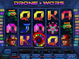 picture from free online slot game Drone Wars