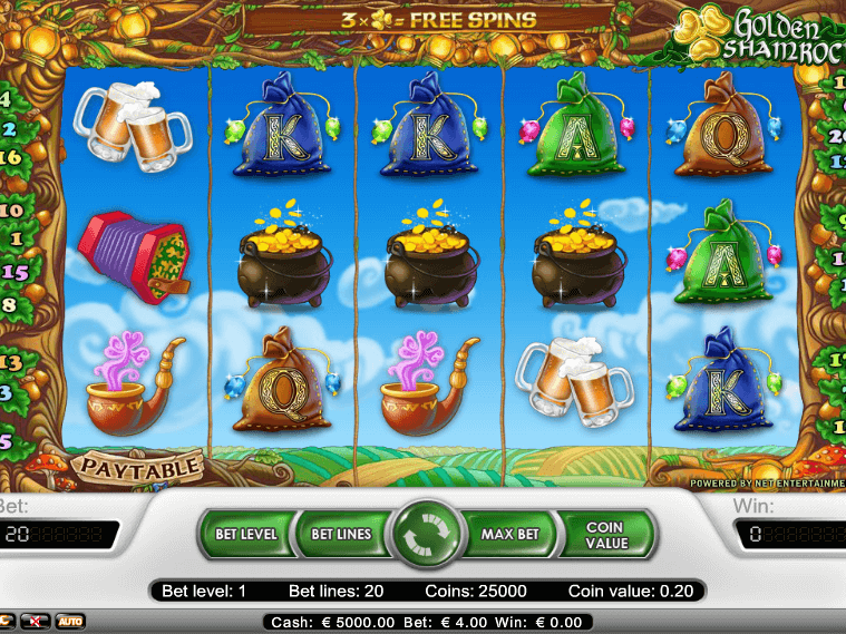 pic from free online slor Golden Shamrock