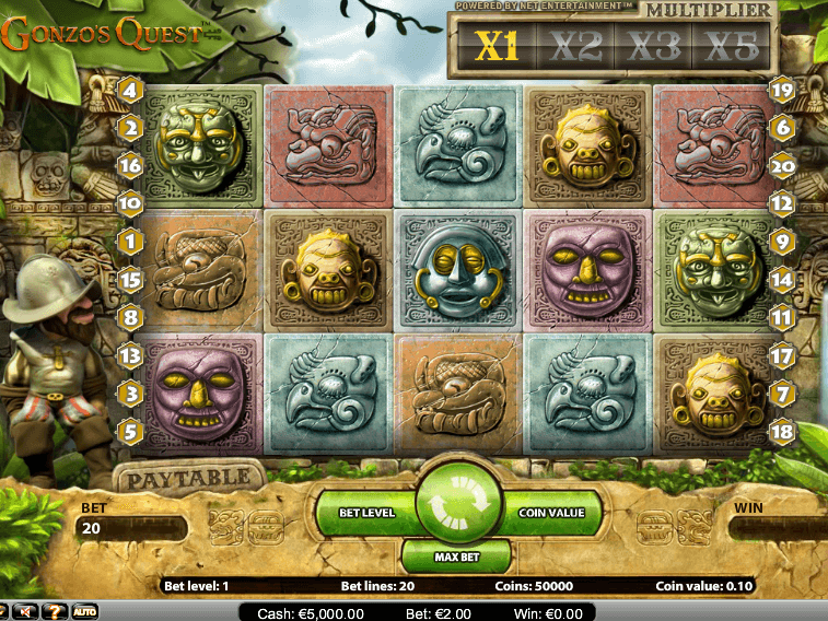 picture of free online slot Gonzo´s Quest
