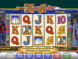 pic of free online slot King Arthur