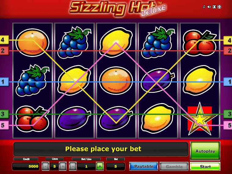 Picture of free online slot Sizzling Hot Deluxe