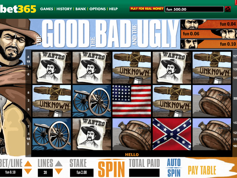 picture from free online slot The Good, The Bad and The Ugly