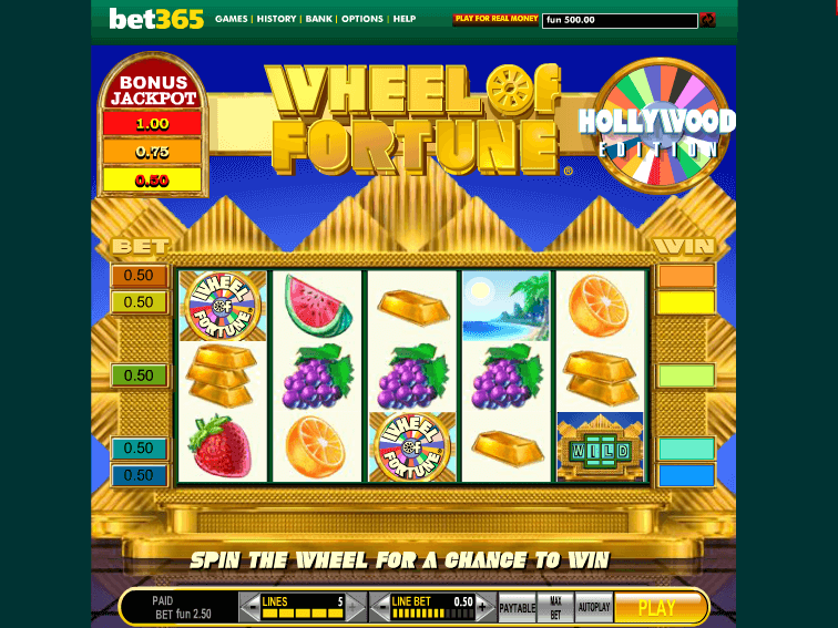 Play Wheel Of Fortune Slot Online