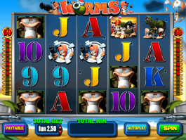 Picture from free online slot Worms