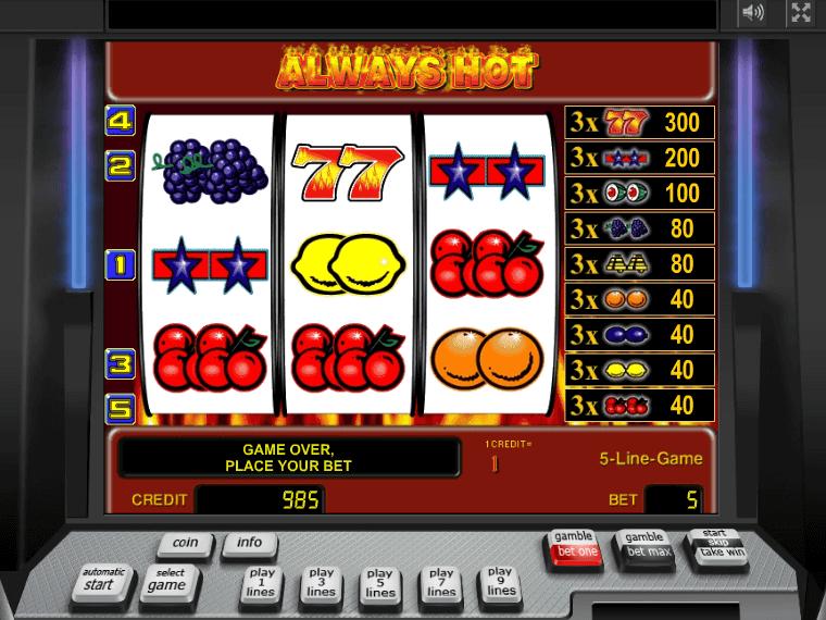 Slot Machine Online Free Sizzling Hot