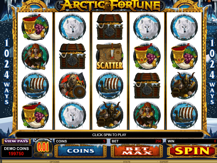 Slot machine with no registration Arctic Fortune