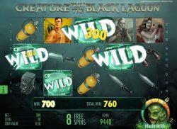 Opțiune specială în jocul ca la aparate gratis Creature from the Black Lagoon