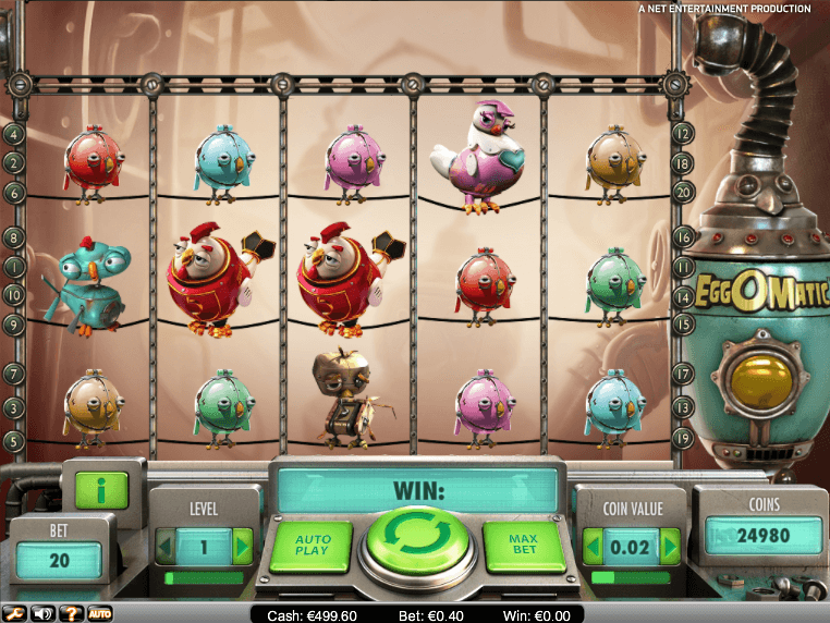 free online casino slot game EggOMatic with no deposit