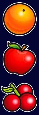 Símbolos frutales de la tragamonedas online gratis Golden Sevens