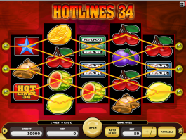Image from free online slot Hotlines 34 game