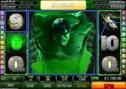 Bonus feature from online free casino slot game The Incredible Hulk