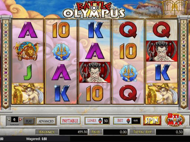 Battle for olympus slot machine online amaya builder