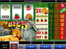 Online free slot Big 5