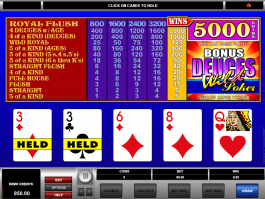 online free slot Bonus Deuces Wild