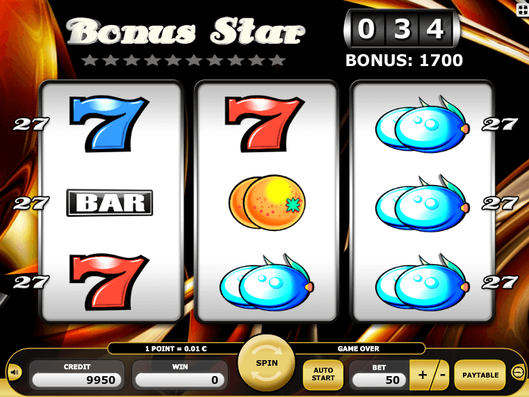 Online free slot machine Bonus Star