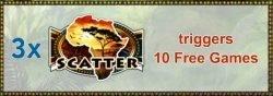 Scatter from Gorilla online casino slot game