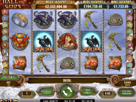 online free slot Hall of Gods