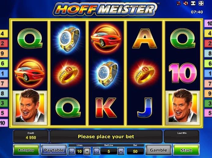 The Hoff Slot Machine