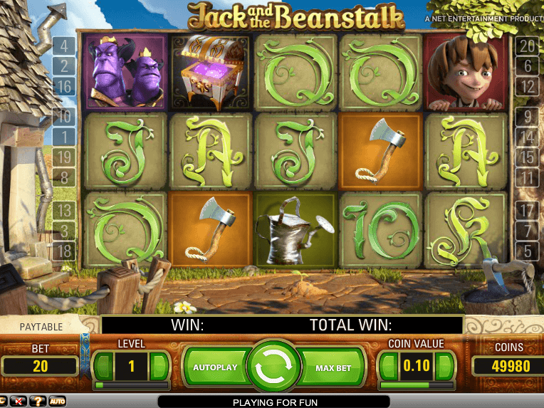 Online free slot gamer Jack and the Beanstalk
