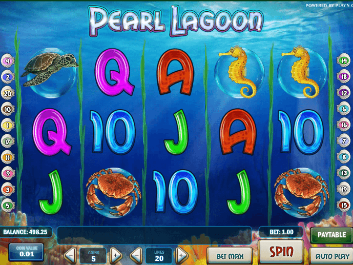 Online casino slot Pearl Lagoon to play for free