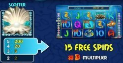 Scatter of Pearl Lagoon online slot machine for fun