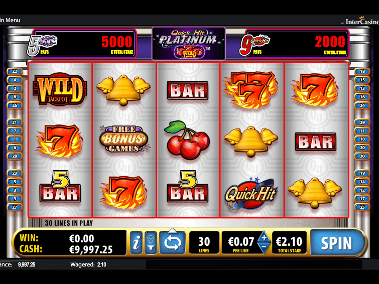 Play Platinum Quick Hits Online