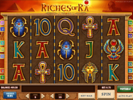 Online free slot Riches of Ra with no registration