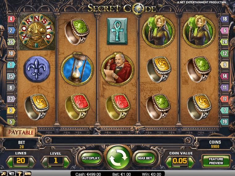 Free Secret Code online casino slot