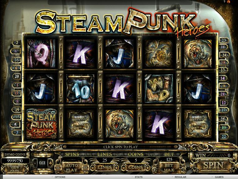 Online free slot Steam Punk Heroes
