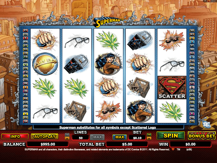 Superman Slot Machine Play Free Online Game Slotu Com